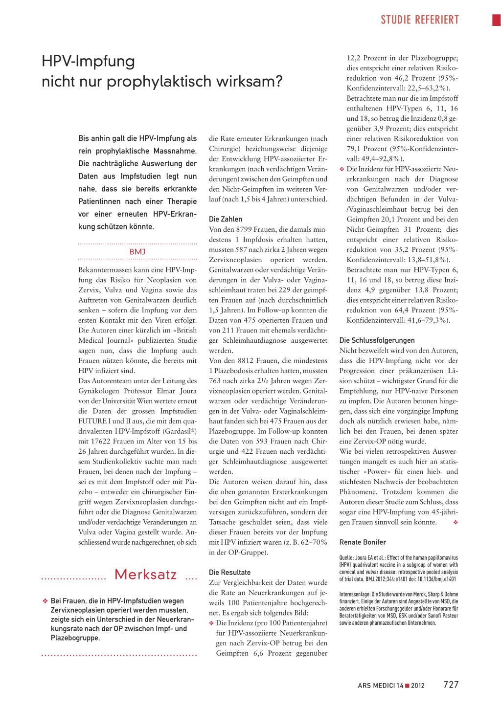 hpv impfung unter 14