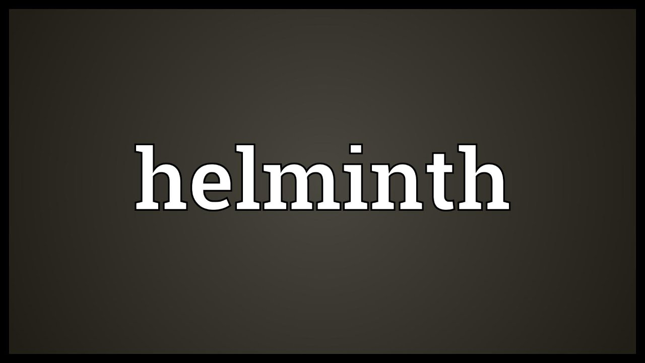 helminth latin meaning)