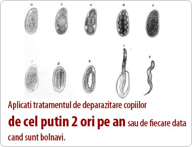 pentru a elimina viermii de la copii)
