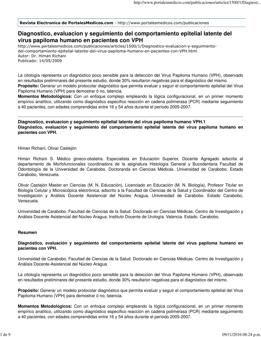 virus hpv diagnostico