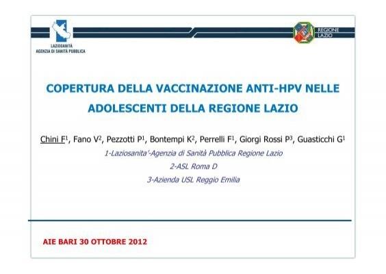 vaccino papilloma virus regione lazio