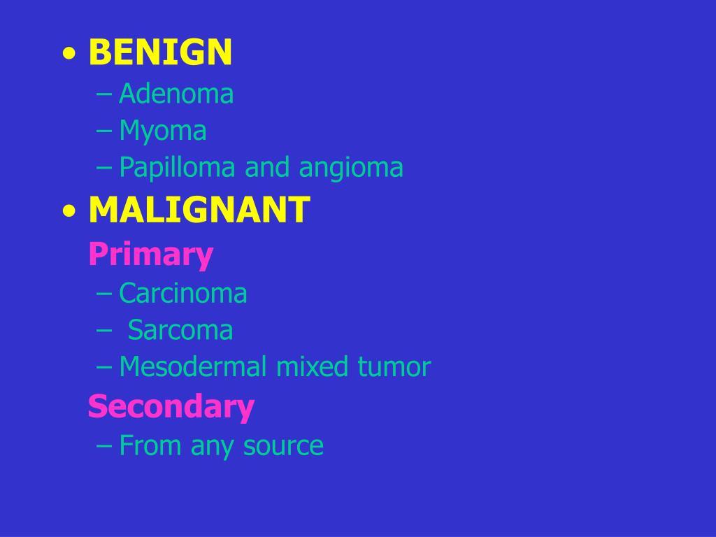 is papilloma malignant)
