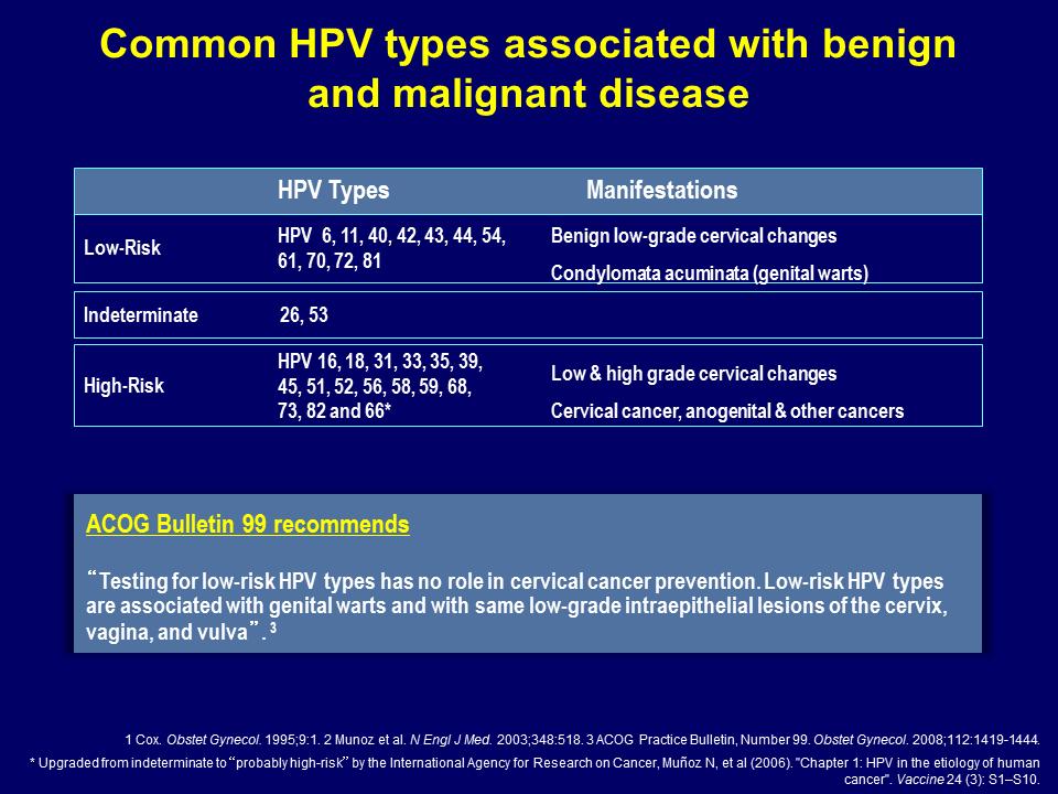 hpv warts high risk