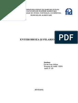 frotiu pozitiv pentru enterobioză