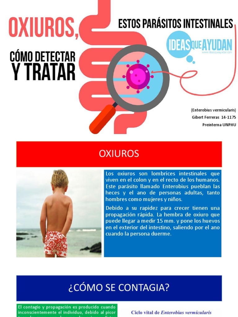 Prevenirea viermilor mebendazol și vermoki, Enterobius vermicularis u oxiuros tratamiento