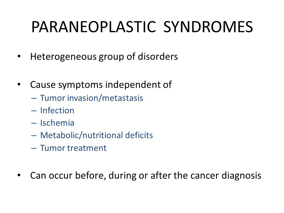 gastric cancer paraneoplastic syndromes