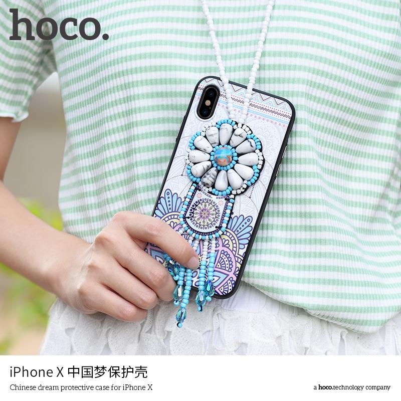 Carcasă de protecţie HOCO, cu mărgele, pentru Apple iPhone XS / iPhone X - violet