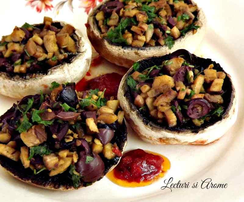 Ciuperci umplute, reteta de post - Retete Culinare cu Gina Bradea