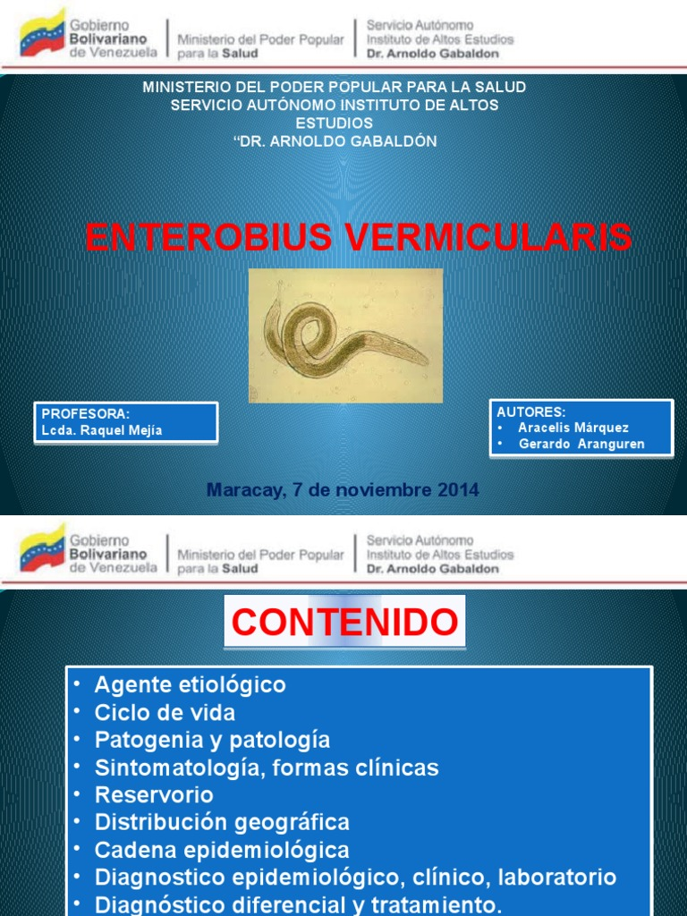 enterobiasis diagnostico laboratorio)