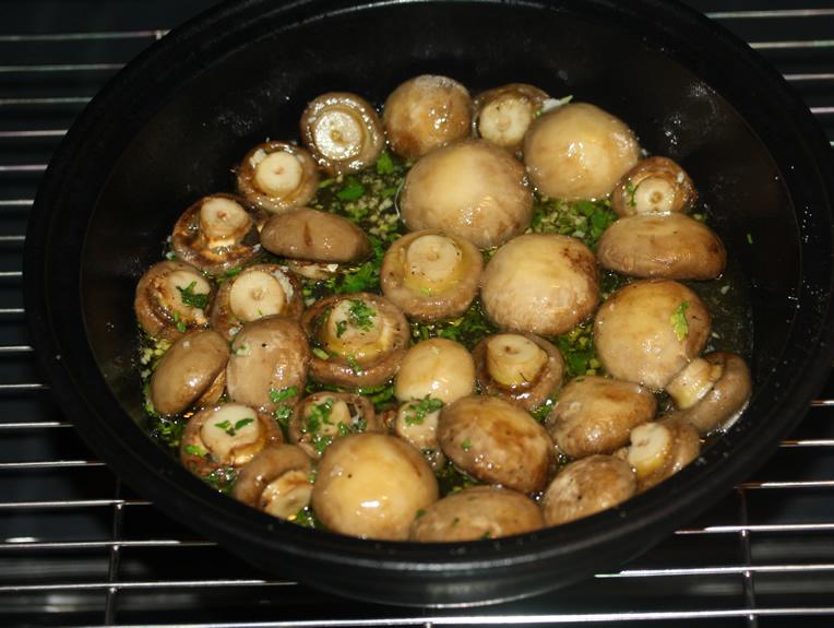ciuperci simple la cuptor)
