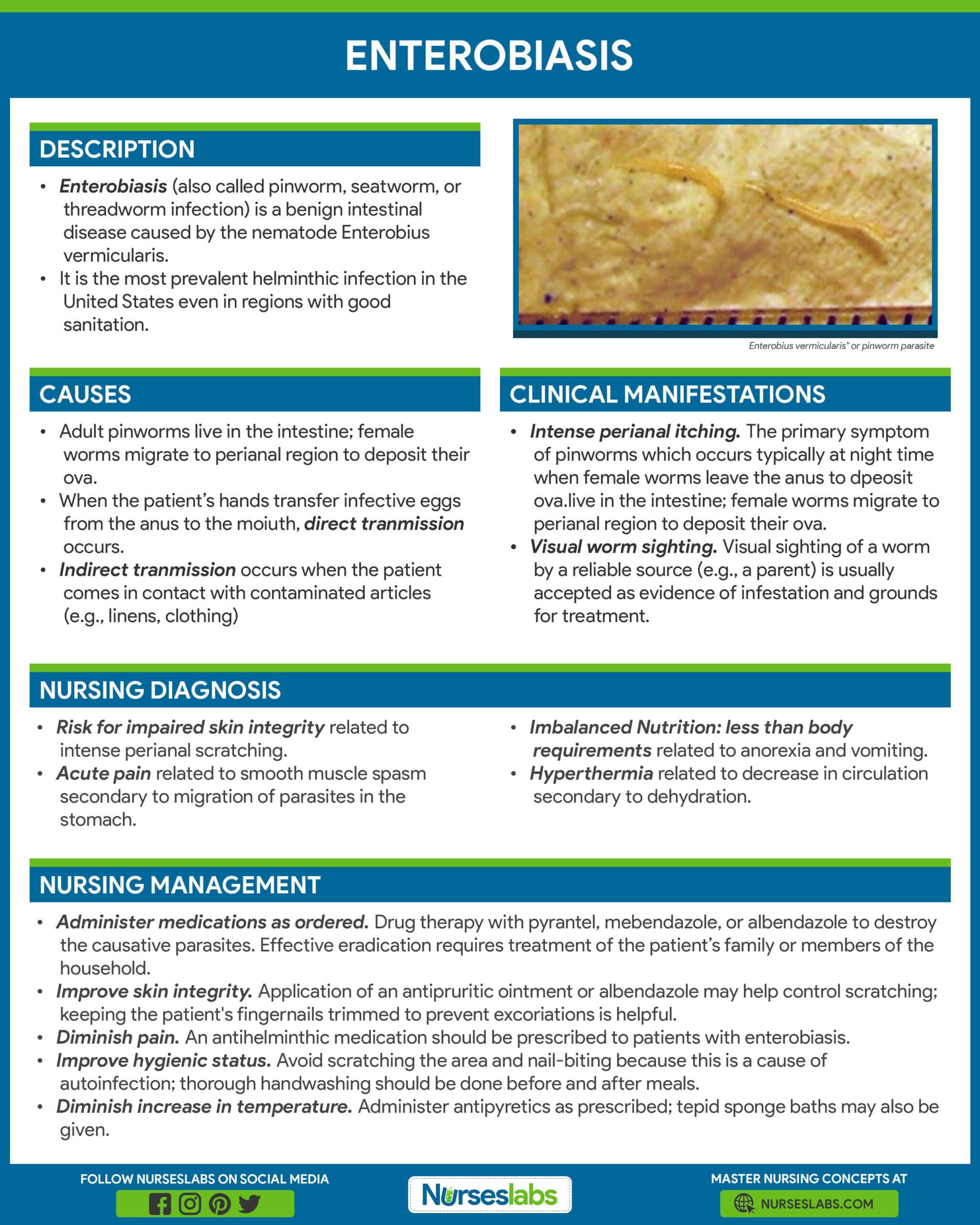 causes of enterobiasis