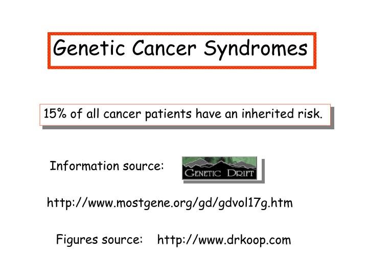 familial cancer syndrome ppt)