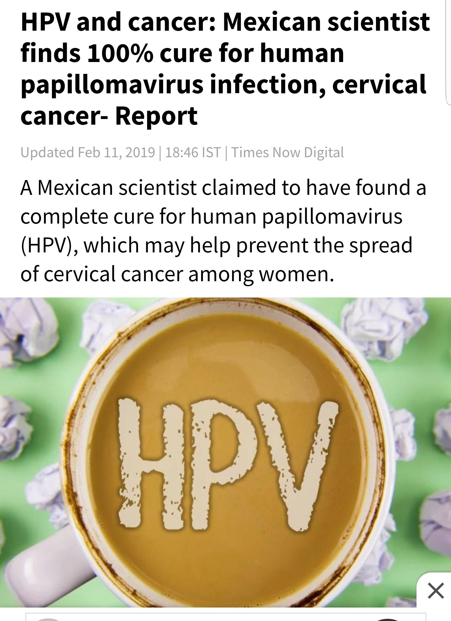 human papillomavirus hpv cure)