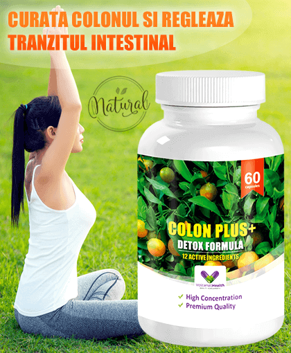 Colon Plus+ cu 12 Ingrediente Active pentru un Colon Curat - Concentrat