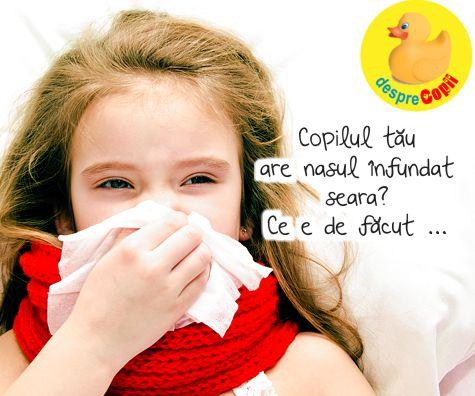 nasul la un copil)