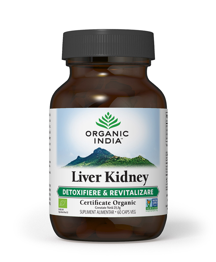 Liver Kidney | Detoxifiere și Protecție Ficat și Rinichi & Revitalizare BIO – 90 CAPS VEG
