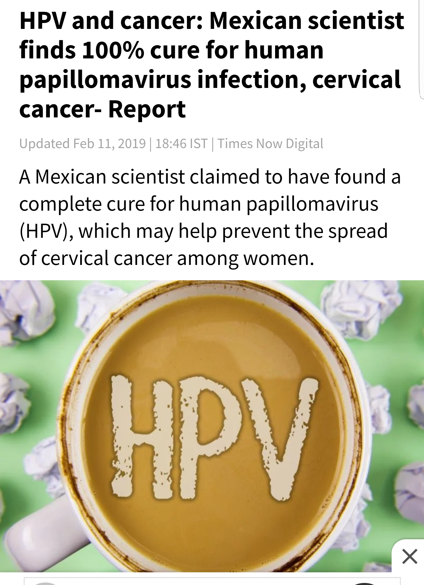 can hpv cancer be cured)