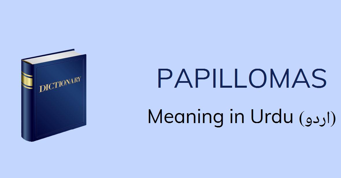 Papilloma mean urdu, Category: Kakyquxes