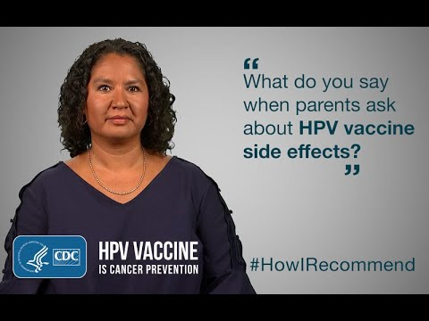 hpv vaccine side effects duration)