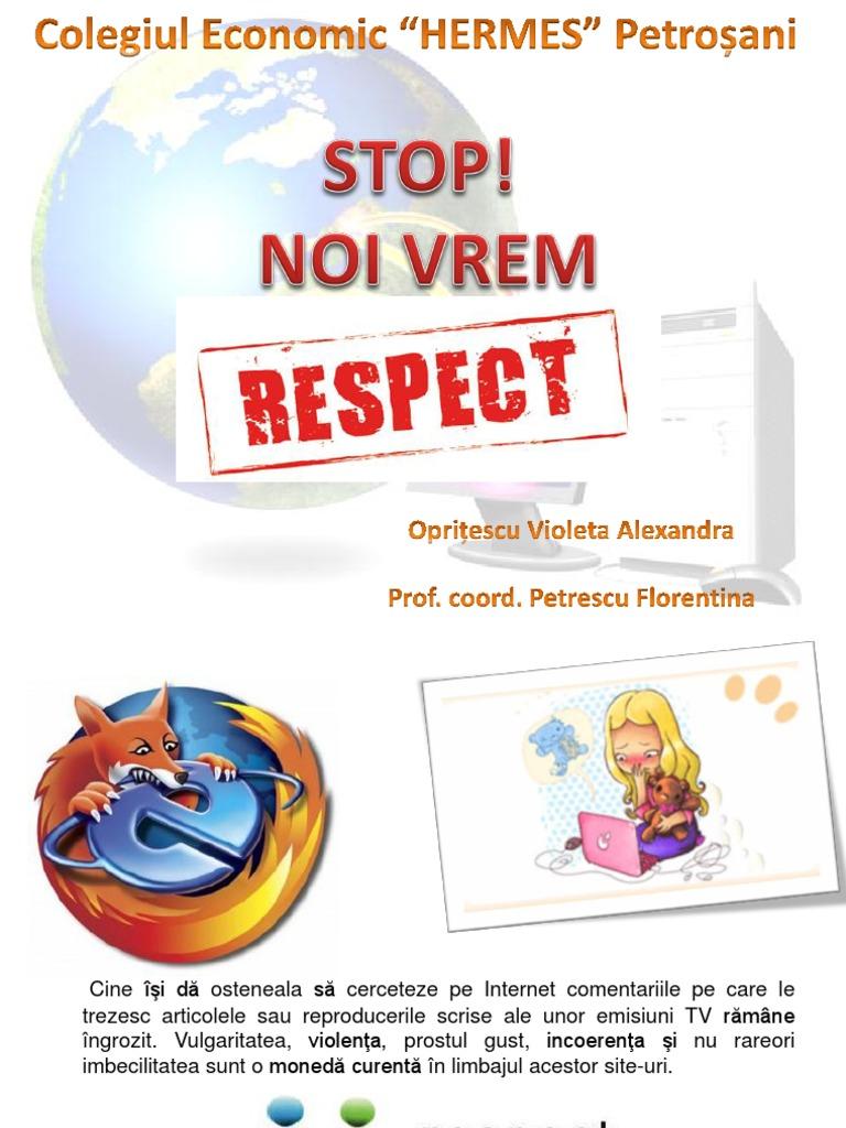 Noi vrem respect! Free Vîntu!