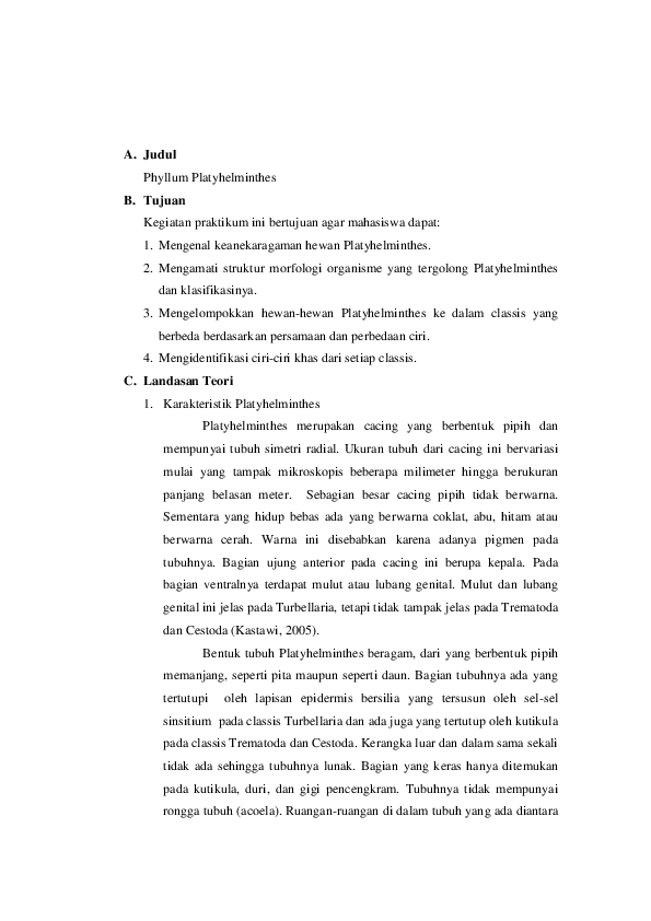 laporan filum platyhelminthes squamous papilloma cancer