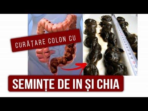 curatarea colonului cu seminte de in