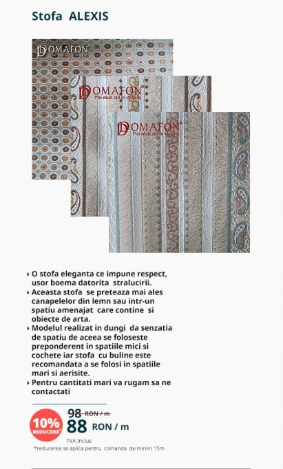 tapițerie cu dungi largi