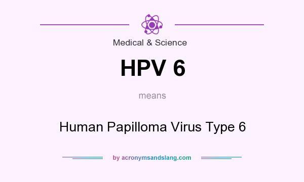 papilloma virus hpv 6