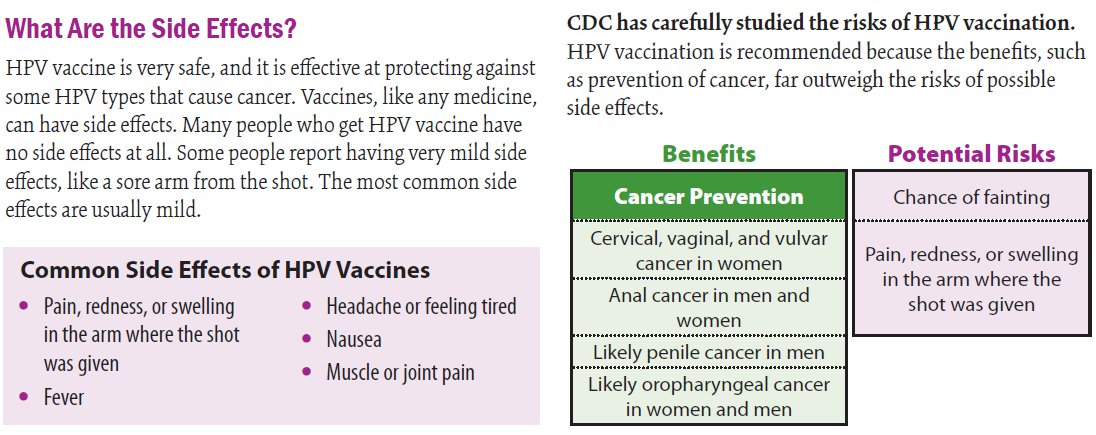 hpv vaccine side effects fatigue)